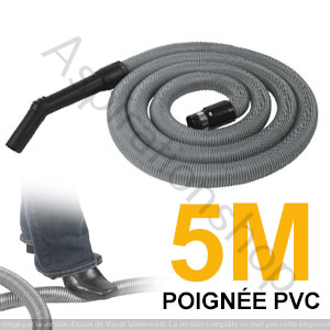 Flexible simple de 5m pour aspirateur central - PVC