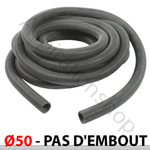 Flexible Ø50 anti ecrasement de 10m - PAS D EMBOUT